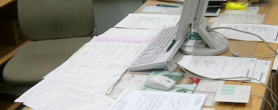 Employee desk